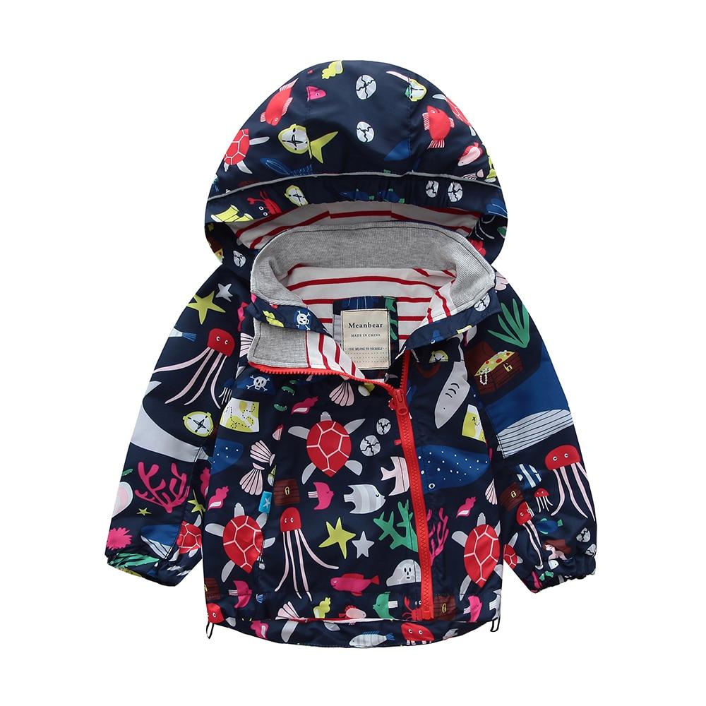 M104 Spring Autumn Fashion Boys Coat Hoodie Child Jacket Girls Tops Windbreaker Cartoon Print Thin Coat Summer Child Thin Jacket planet print marled hoodie
