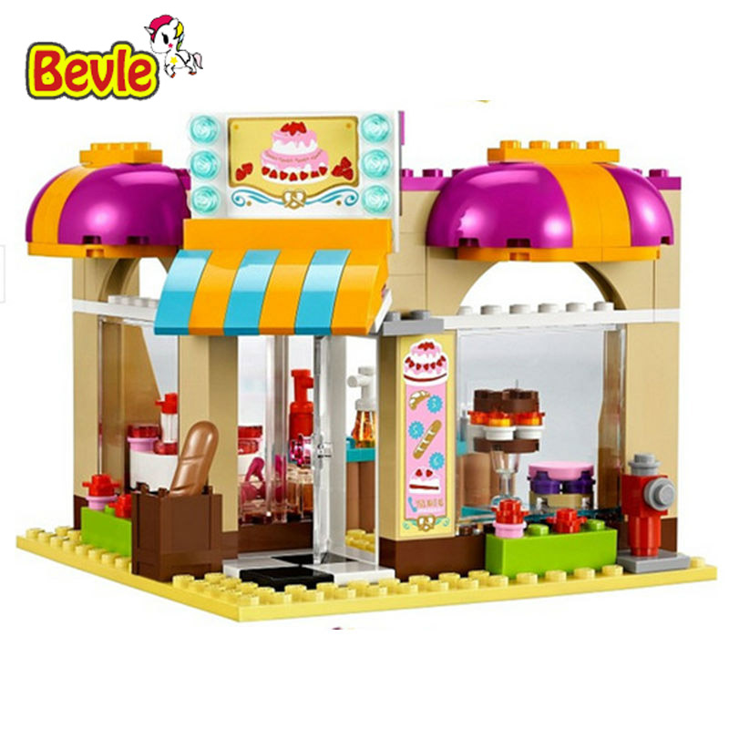 Bevle Bela 10165 Friends City Bakery Boulangerie Toys Gift Building Block Toys Compatible with Lepin 41006 lepin 22001 pirate ship imperial warships model building block briks toys gift 1717pcs compatible legoed 10210