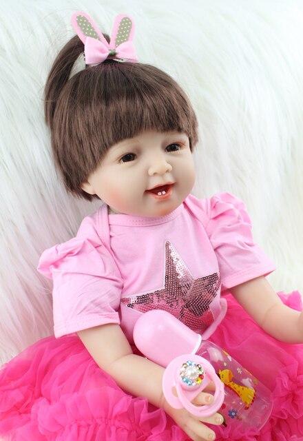 22 Reborn Girl Doll Toddler Toy Lifelike 55cm Vinyl Newborn Babies Lovely Birthday Gift Play House