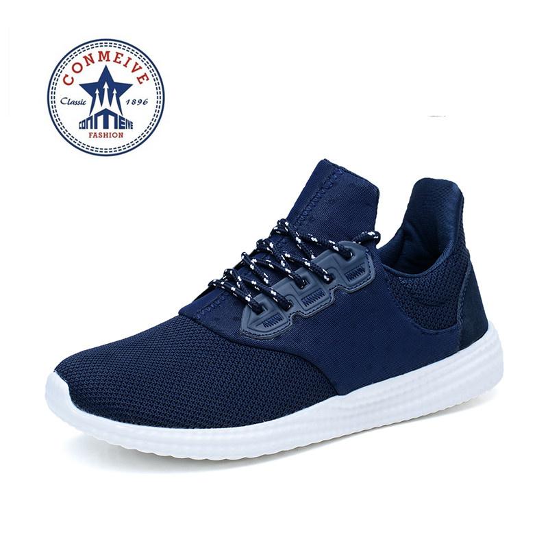 Prix pour 2016 nouveau style hommes chaussures de course sneake lumière athletic sport chaussures respirant maille antidérapant extérieur sneakers zapatos hombre