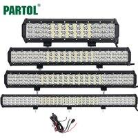 Partol 12 20 23 31 3 Row 6D LED Light Bar Offroad Led Bar Combo Beam