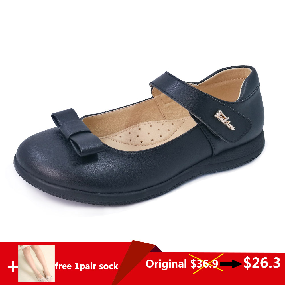New arrival children orthopedic leather school shoes girls bowknot design black color student uniform shoesNew arrival children orthopedic leather school shoes girls bowknot design black color student uniform shoes
