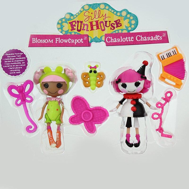 2pcs Dolls + 4pcs Accessories, Mini 3Inch Original MGA Lalaloopsy Dolls кукла малютка lalaloopsy в оранжевой упаковке
