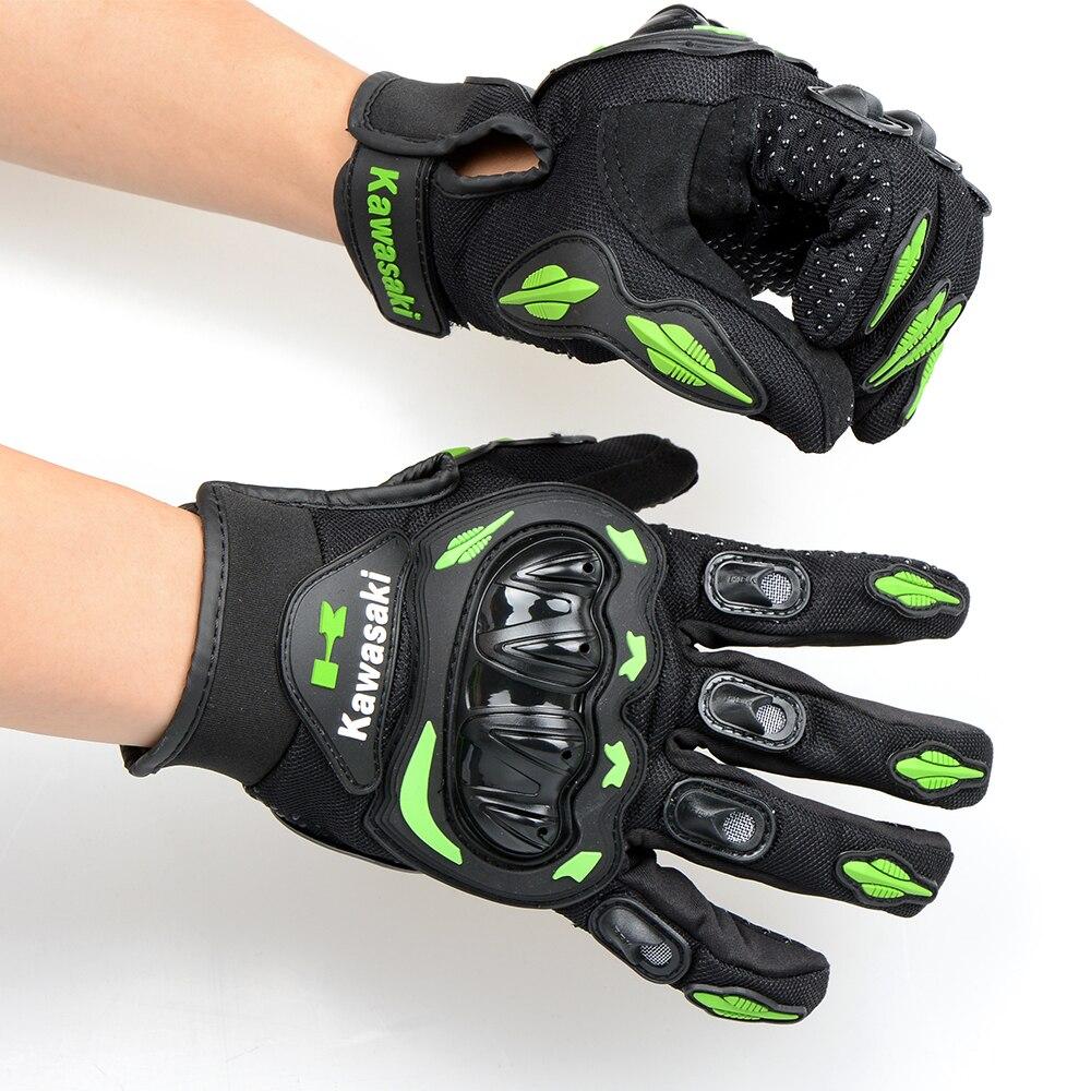 Motorcycle gloves xl - Fashion Man Woman Motorcycle Gloves Moto Luva Motocicleta Motocross Guantes Gloves For Kawasaki Gloves Full Finger M L Xl Xxl