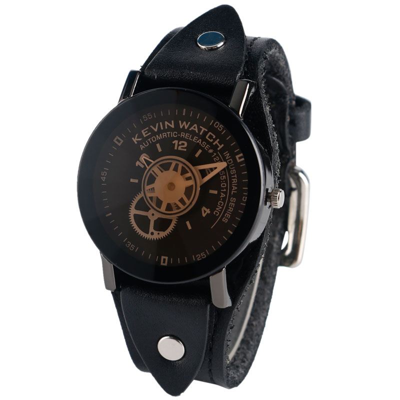 Burra Watches Full Wheel Steampunk Gear Wheel Fashion Creative - Ora për meshkuj