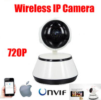 H.264 HD 720P IP Camera Wifi Wireless P2P Infrared Security Camera Pan tilt CCTV Mini Dome Camera Pan/Tilt Indoor baby motore