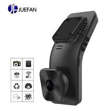 лучшая цена JUEFAN Car DVR Recorder Camera with Wifi Full HD 1080p Wide Angle Lens G Sensor Night Vision Dash