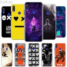 Amor, la muerte y los Robots funda de teléfono para Xiaomi Redmi 7 5 6 Pro Nota 7 Pro 5 5A 6 mi A1 A2 8 Lite 9 Coque