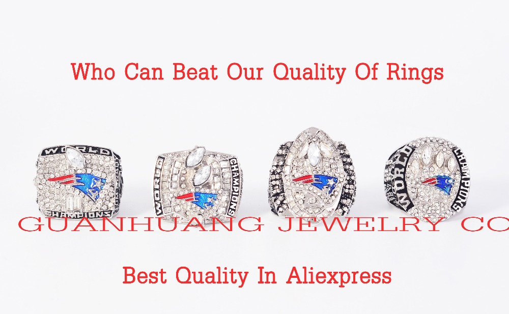 Who Can Beat Our Rings, Super Bowl 4 Years Sets 2001/2003/2004/2014 New England Patriots Championship Ring