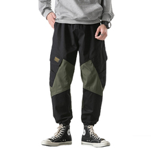 Men Joggers Sweatpant Pants Tactical Trousers Hip Cargo Harem Streetwear Harajuku Casual Cotton Overalls 5XL