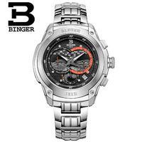 New Binger Design Mens Geneva Watches Brand Vogue Watch Fashion Crystal Quartz Wristwatch Wholesale Clock