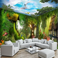Forest Chalet House Papel De Parede 3D Custom Photo Wallpaper For Walls 3 D Large Murals