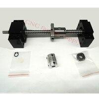 SFU1204 Set SFU1204 L 300mm Rolled Ball Screw C7 With End Machined 1204 Ball Nut BK