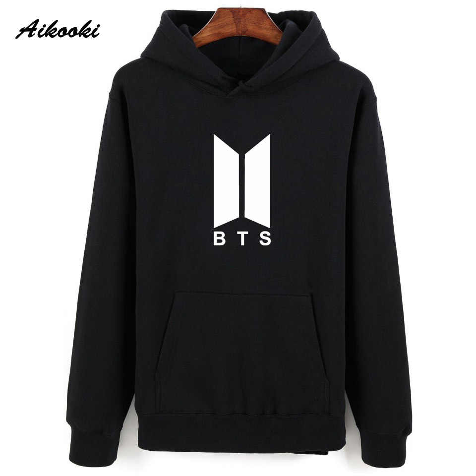 6267041c9 Aikooki Fashion BTS Hoodies And Sweatshirts Men/Women Pullovers Hooded  Autumn Loose BTS Stars Idol