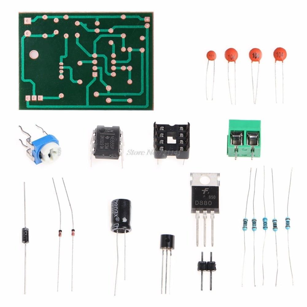 Online Shop Diy Kit 555 Multibrator Suite Ne555 Astable Circuit Oscillator For The Ne555n Ic This Si Basic 5 12v Pulse Width Modulation Speed Regulator Controller Module