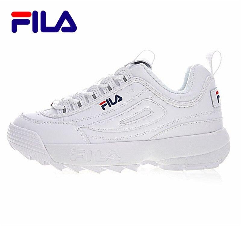 2018 FILAS Perturbateur II Hommes et Femmes Baskets chaussures de course Blanc été Augmenté En Plein Air Sneaker taille 36-44