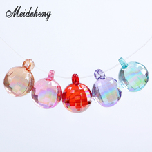 AB color Acrylic Disco transparent section earth bead pendant accessories Earrings Pendant Fashion Design Jewelry
