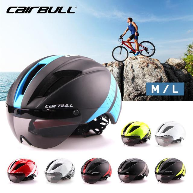 CAIRBULL Aero Ultra-light Goggle Road Bicycle Helmet Racing Cycling Bike Sports Safety Helmet TT Timed Road Bike Helmet 8 Colors