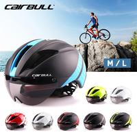 CAIRBULL Aero Ultra light Goggle Road Bicycle Helmet Racing Cycling Bike Sports Safety Helmet TT Timed Road Bike Helmet 8 Colors