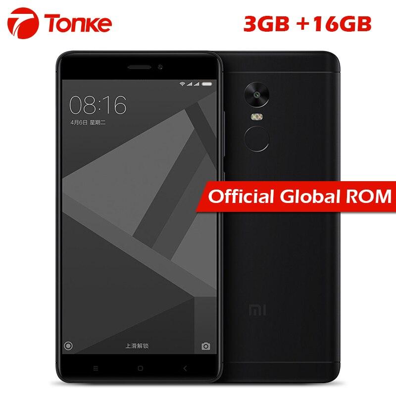 """Оригинальный Xiaomi Redmi Note 4x4x3 ГБ Оперативная память 16 ГБ Встроенная память Snapdragon 625 Octa Core 5.5"""" FHD 13.0mp Камера отпечатков пальцев ID мобильного телефона"""