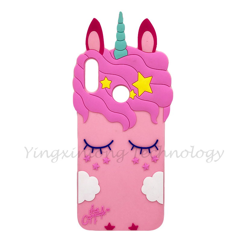 Image 5 - Soft Silicone Phone Case For Huawei P Smart 2019 Case Cute 3D Stitch Cat Unicorn Back Cover For Honor 10 Lite Luxury Funda Coque-in Fitted Cases from Cellphones & Telecommunications