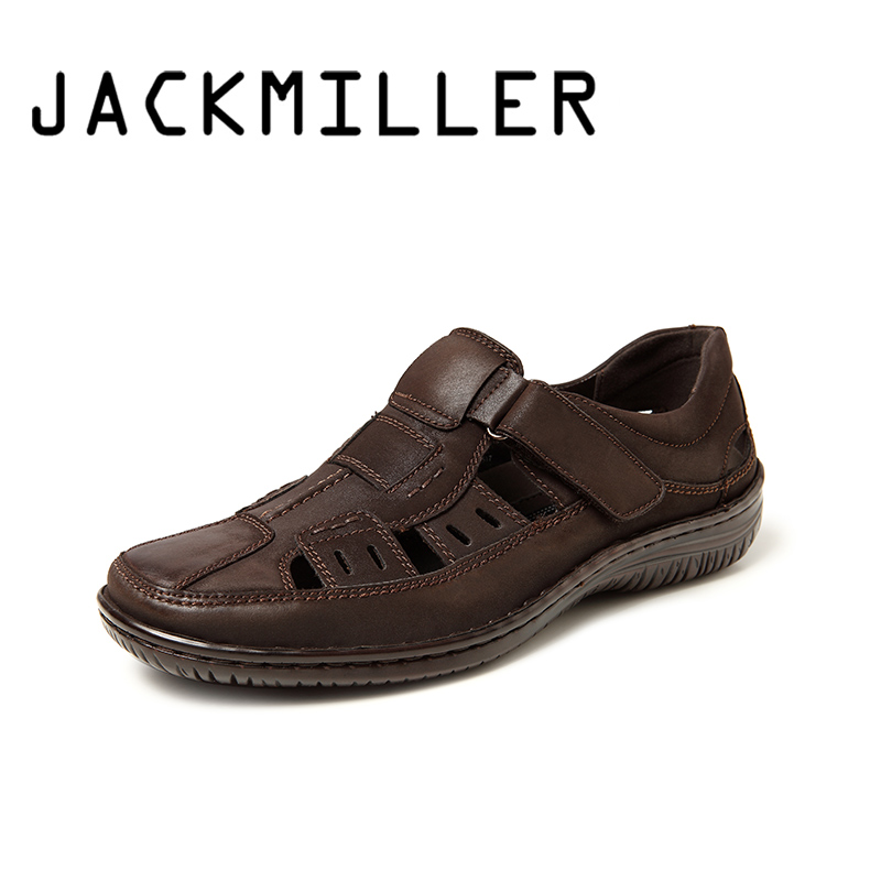 Jackmiller Top Brand Summer Men Sandals Breathable Comfortable Super Light Slip-On Casual Brown Mark Line Sandal Flats Men Shoes(China)