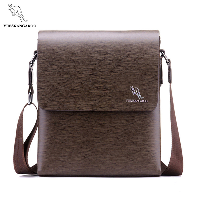 YUES KANGAROO 2017 NEW Brand Men Bag Fashion Leather Crossbody Bag Men Messenger Bags Casual Shoulder Designer Handbags Man Bags yues kangaroo brand men bag leather casual high quality shoulder crossbody bags classical business briefcase mens messenger bag