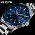 Карнавал Тритий T25 светящийся двойной календарь военные швейцарские кварцевые часы мужские роскошные Брендовые Часы водонепроницаемые ча...