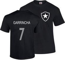 GARRINCHA T SHIRT BRAZIL BOTAFOGO FOOTBALLER LEGEND CAMISETA SOCCERER PELE Print T-Shirt Summer Style Top Tee