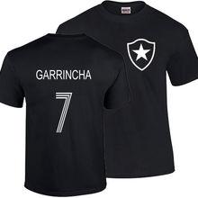 ba52f874f GARRINCHA T SHIRT BRAZIL BOTAFOGO FOOTBALLER LEGEND CAMISETA SOCCERER PELE  Print T-Shirt Summer Style