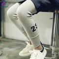 Menina leggings clássico lápis magro calças Compridas crianças calças Compridas bebê crianças leggings crianças calças pés Magros punhos elásticos