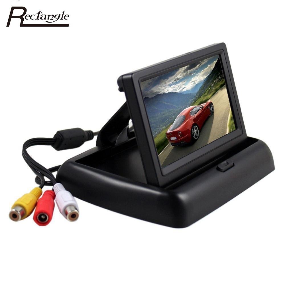 imágenes para 4.3 pulgadas Retrovisor Del Coche de HD Monitor de Reserva Digital LCD Pantalla TFT Para El Coche Camión Vehículo Plegable de Visión Trasera monitores