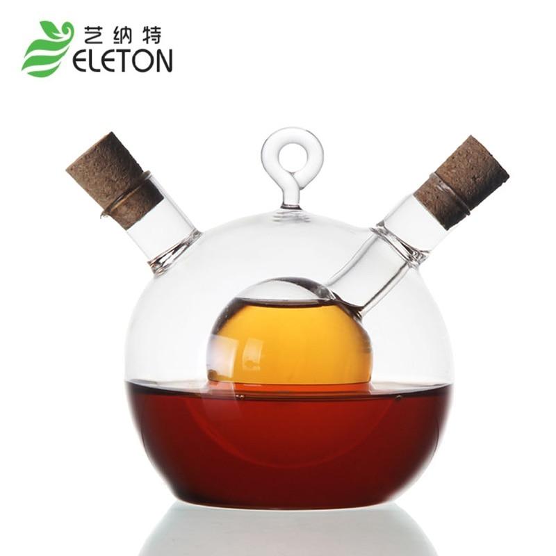 ELETON اسپری روغن کاستور شیشه ای درجه حرارت بالا بطری روغن سرکه سس سویا سرکه روغن بطری روغن آشپزخانه تهیه آشپزی