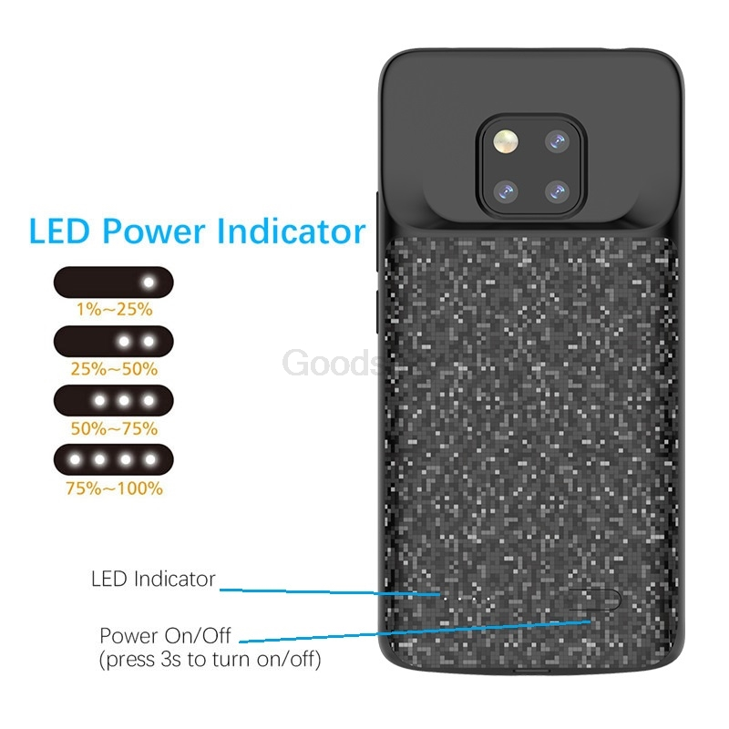 10 stks Battery Charger Case Voor Huawei Mate 20 Pro Lite Slim shockproof Silicone Soft Frame power bank Opladen Cover groothandel - 6
