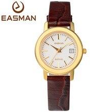 Easman женские часы швейцария движение натуральная кожа дата показать 3ATM сапфировое стекло часы для женщин подарок роуз
