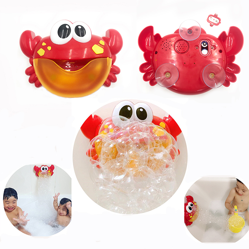 Zhenduo Toys Baby Bath Bubble Crabs Funny Music Maker Pool