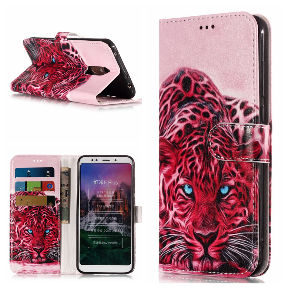 Fashion Wallet Stand Case For Xiaomi Redmi 5A 4X Note5 Pro Leather Flip Cover Case Flower Dog Marble Butterfly Phone Coque P01Z in Wallet Cases from Cellphones Telecommunications