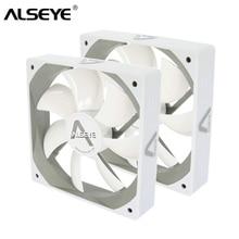 ALSEYE wentylator komputera 120mm 12v biały wentylator (2 części/partia) 64CFM wysoki przepływ powietrza cichy wentylator do komputera spalin