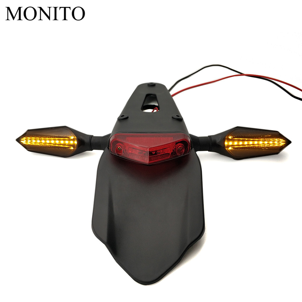 Motorcycle Tail Light Enduro Dirt Bike Rear Fender Brake Stop Turn Signals For For YAMAHA KTM CRF YZ CR EXC WRF 250 400 426 450