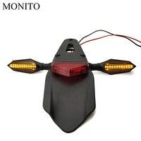 Luz da cauda da motocicleta enduro bicicleta sujeira traseiro fender freio parar sinais de volta para yamaha ktm crf yz cr exc wrf 250 400 426 450