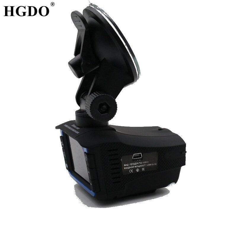 HGDO 2 dans 1 Russe Voix Voiture DVR Détecteur de Radar automatique caméra 720 p HD Dash cam vitesse d'écoulement détecter survitesse Rappelant Radar