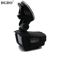 HGDO 2 in 1 Russian Voice Car DVR Radar Detector auto camera 720P HD Dash cam flow velocity detect Overspeed Reminding Radar