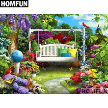 HOMFUN Full Square/Round Drill 5D DIY Diamond Painting Garden Scenic Embroidery Cross Stitch 5D Home Decor Gift A01702 homfun full square round drill 5d diy diamond painting garden