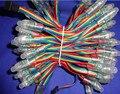 DC12V 100 nodos/strand volcado RGB nodos, TIPO de PROTECCIÓN IP68; 24 W; cables de color