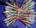 DC12V 100nodes/strand RGB dump nodes, IP68 rated; 24W;color wires