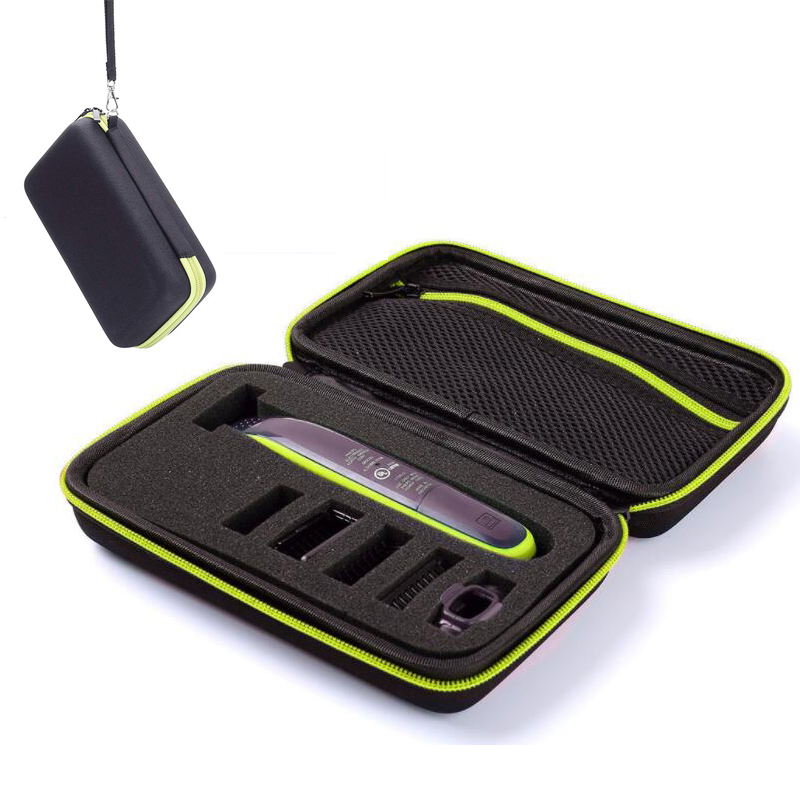 For Philips OneBlade Trimmer Shaver And Accessories Collection Box Portable Storage Case Bag Shell Zipper Pouch W/ Antishock Pad