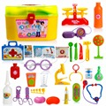 1Set/30pcs Kids Baby Doctor Medical Play Carry Set Case Education Role Play Toy Kit