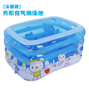 1 pic Swimming school inflatable childrens pool pool swimming pool inflatable pools for adults Inflatable squar45*110*75 TXY33