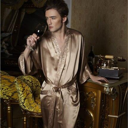 bf2d0ac3537 Gifts thicken 19MM Chinese Heavy silk satin men s home pajama sexy bathrobe  100% real silk dressing gown robe man kimono boy