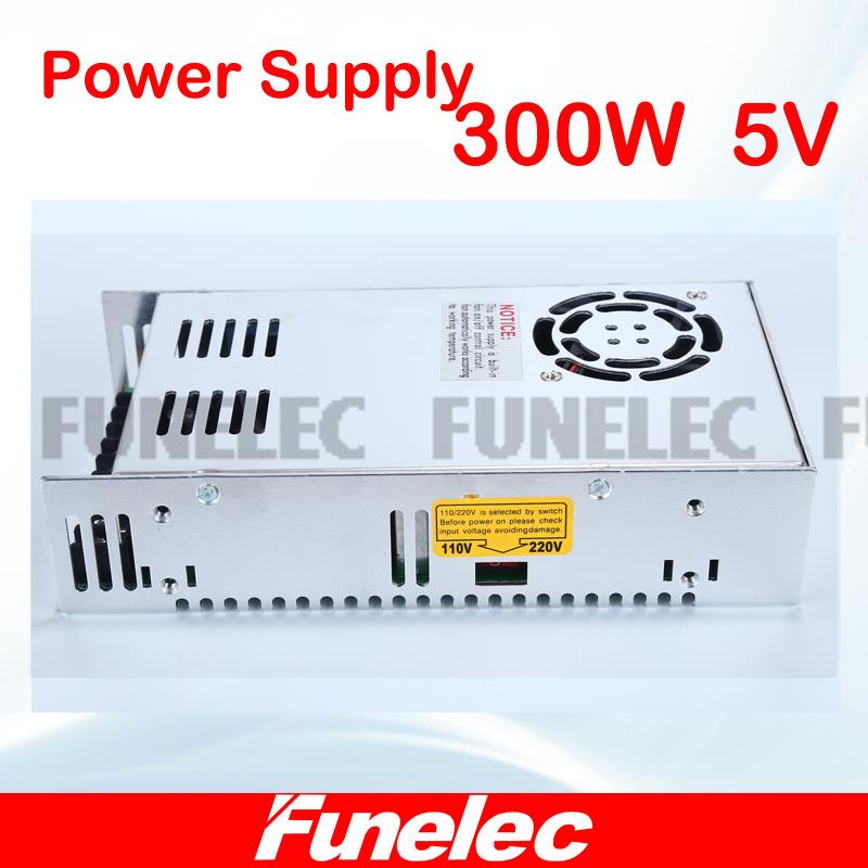 New model 5V 60A 300W Switching Power Supply Driver for LED Strip AC 200-240V Input to DC 5V free shipping best quality 13 5v 29 5a 400w switching power supply driver for cctv camera led strip ac 100 240v input to dc13 5v free shipping